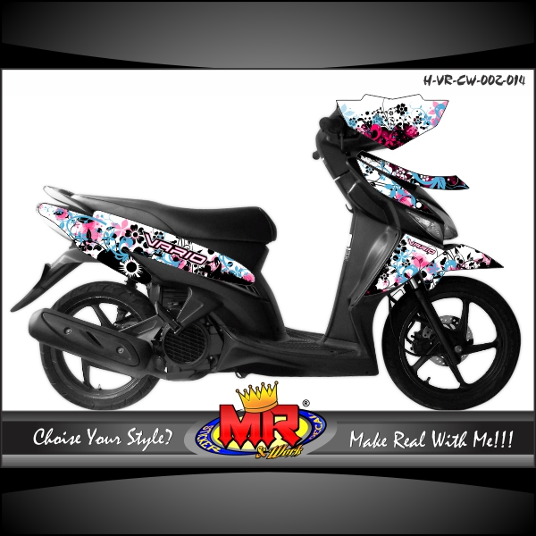Vario Cw Splater Flower Stiker Motor Striping Motor