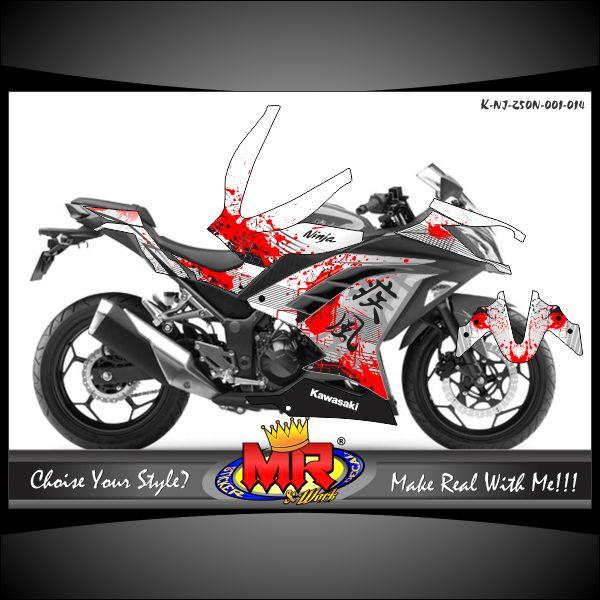 Stiker-motor-kawasaki-ninja-250-new-dengan-tema-Japan-Grunge