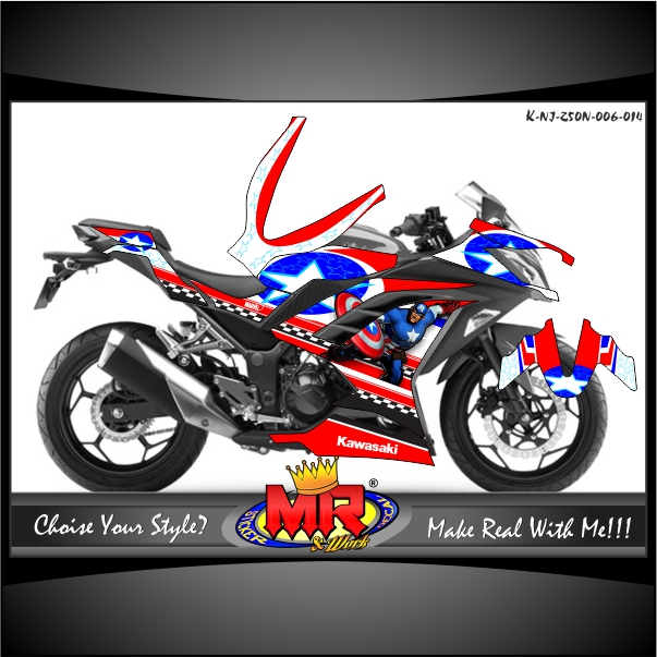 stiker-ninja-250-new-captain-america