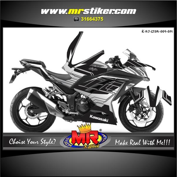 stiker-motor-ninja-250-new-techno-style-black-white