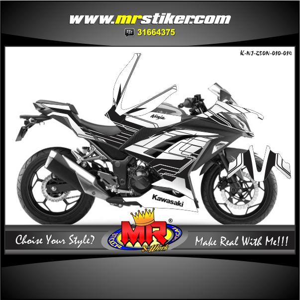 stiker-motor-ninja-250-new-techno-style-white-black-