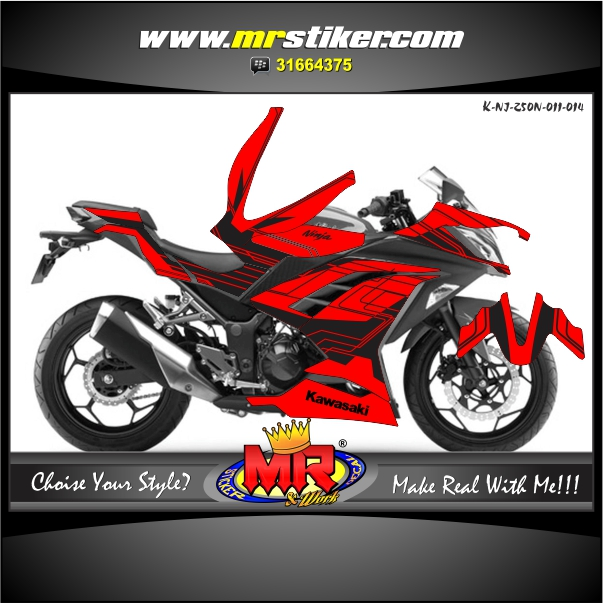 stiker-motor-ninja-250-new-techno-style-red-black