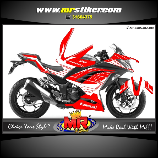 stiker-motor-ninja-250-new-techno-style-red-white
