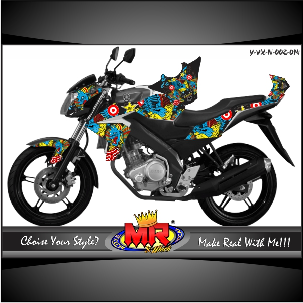 stiker-motor-vixion-new-pop-art-fox-vs-rockstar
