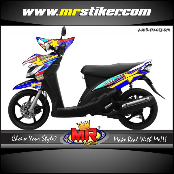 stiker-motor-mio-sporty-smile-blue-race-star