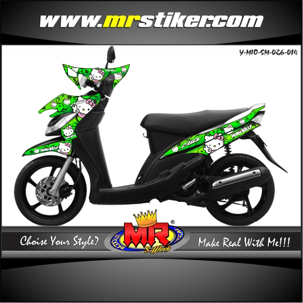 stiker-motor-mio-sporty-smile-green-hello-kitty