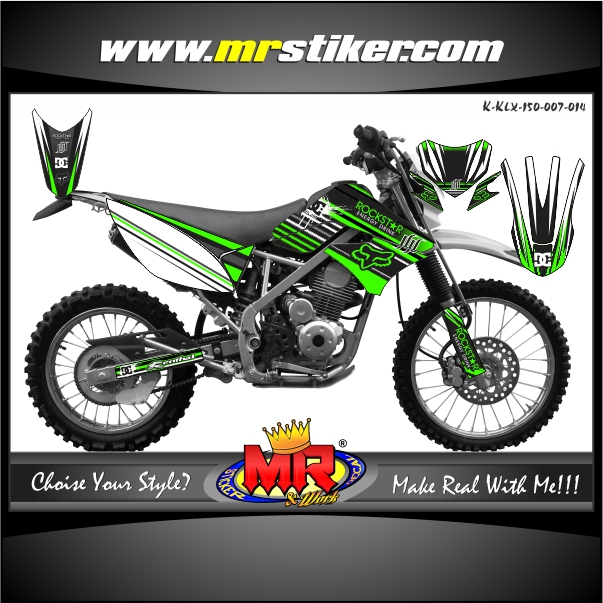 stiker-motor-klx-150-green-rr-line