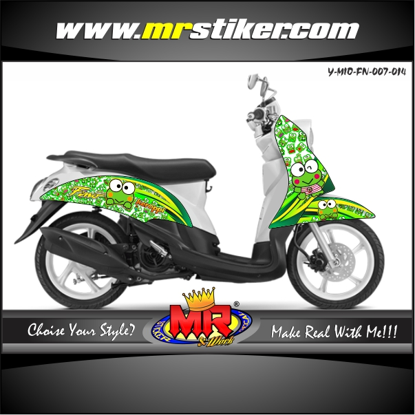 stiker-motor-mio-fino-green-keroppi