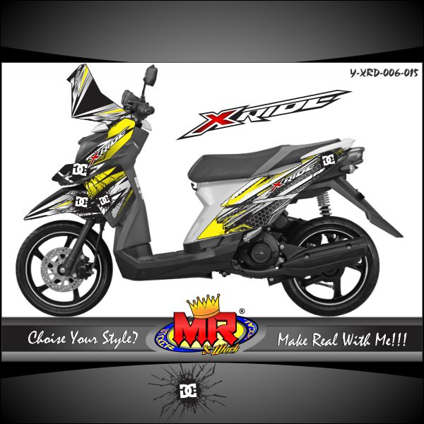 stiker-motor-x-ride-yellow-silver-dc