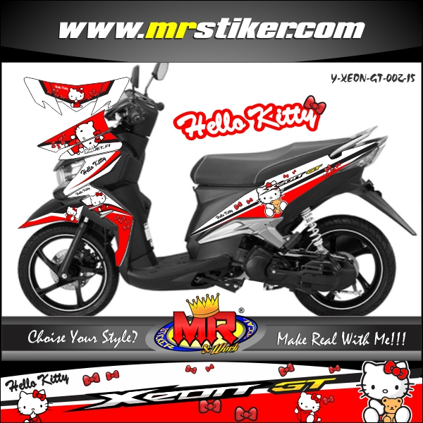 stiker-motor-xeon-gt-red-sweety-hello-kitty