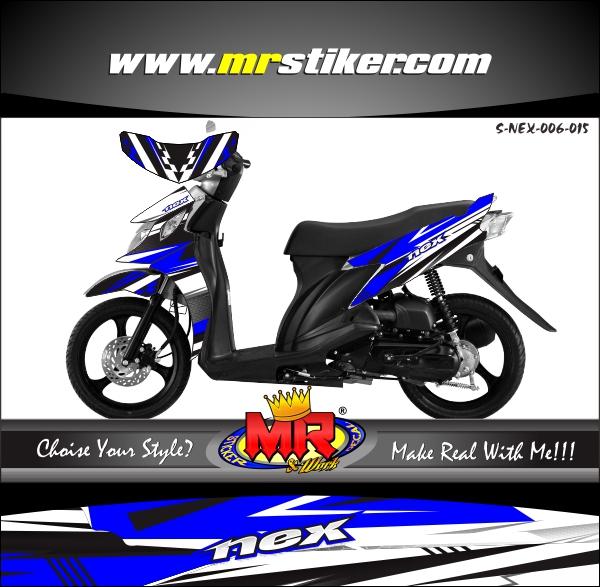 stiker-motor-suzuki-nex-blue-racing-style