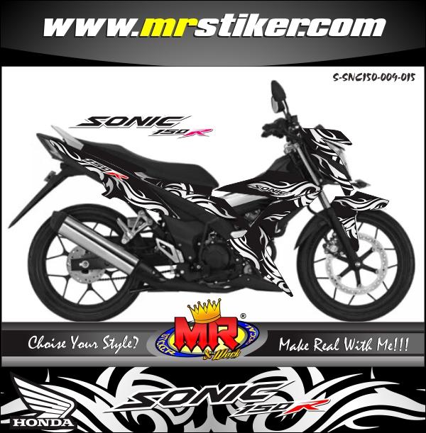 stiker-motor-sonic-150r-tribal-black-horse