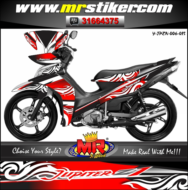 stiker-motor-yamaha-jupiter-z-new-red-tribal-line