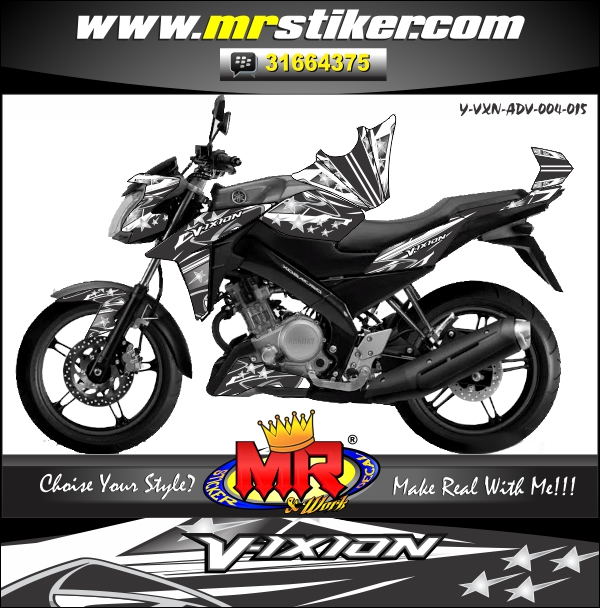 stiker-motor-vixion-advance-silver-racing-star