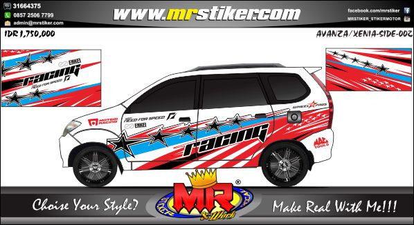 stiker-mobil-avanza-xenia-red-blue-star-racing