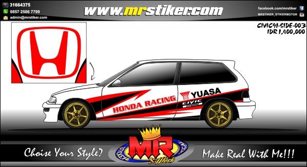 stiker-mobil-civic-honda-racing-yuasa
