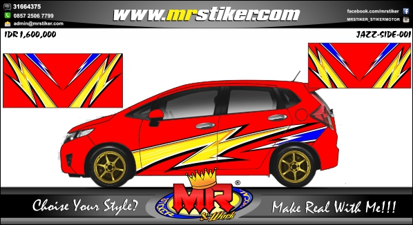 stiker-mobil-honda-jazz-red-slash