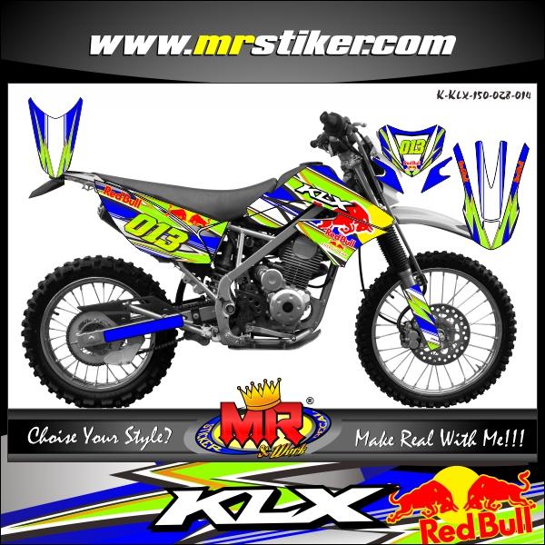 stiker-motor-klx-150-redbull-slash