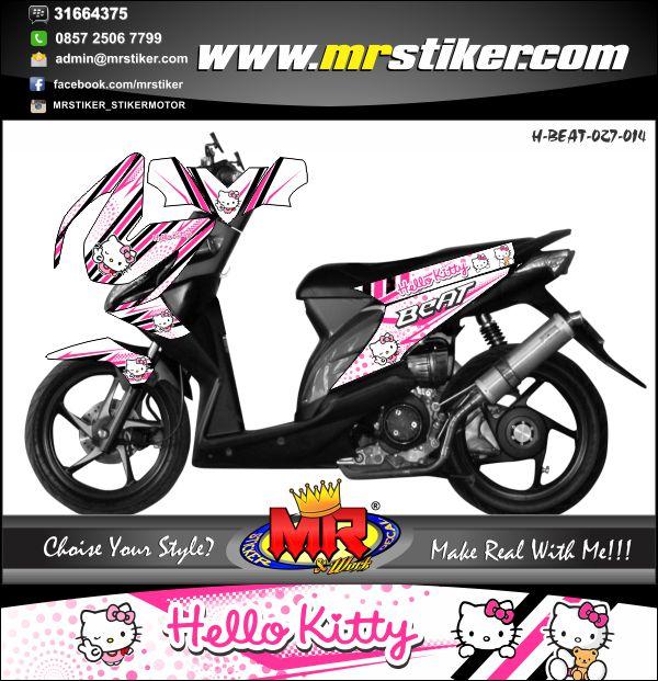 stiker-motor-beat-sporty-hello-kitty