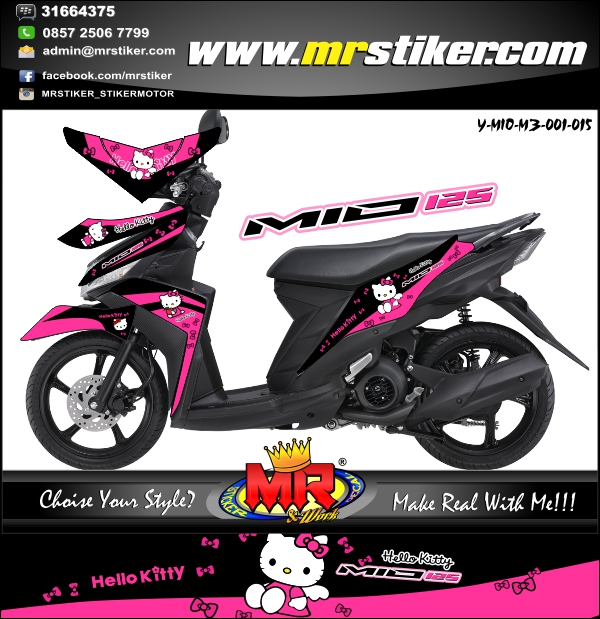 stiker-motor-mio-m3-hello-kitty