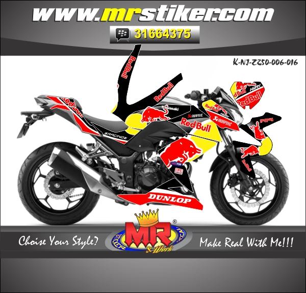 stiker-motor-ninja-250-z-red-bull-black