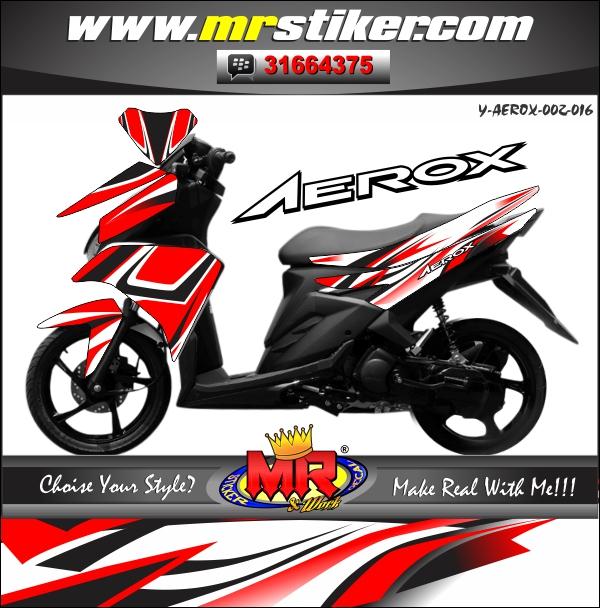 stiker-motor-aerox-red-line