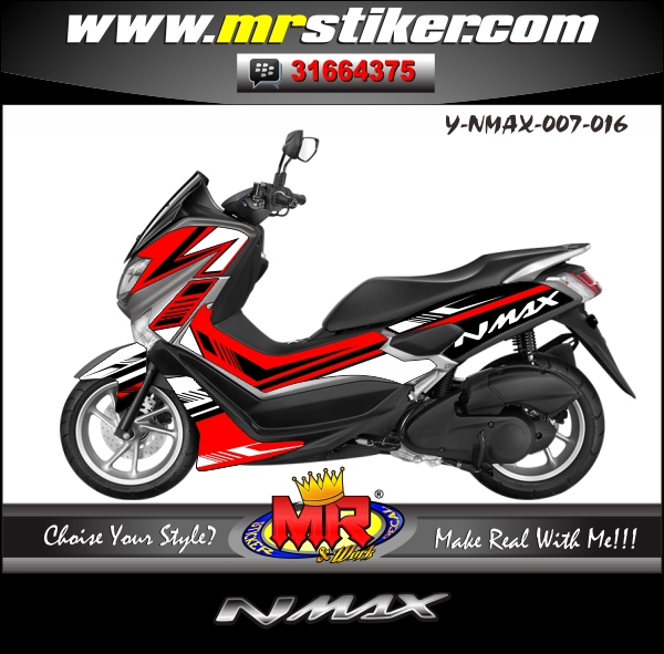 stiker-motor-nmax-simple-red-white-black