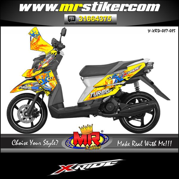 stiker-motor-x-ride-yellow-turbo
