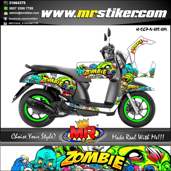 stiker-motor-scoopy-new-white-zombie