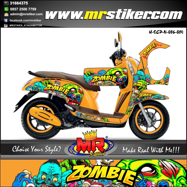 stiker-motor-scoopy-new-orange-zombie