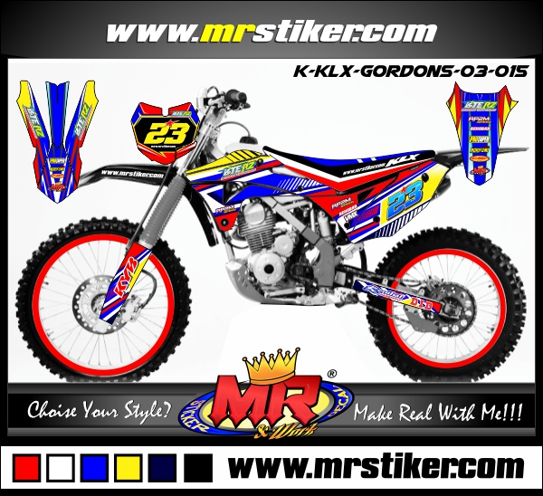 stiker-motor-klx-gordon-blue-red-yellow