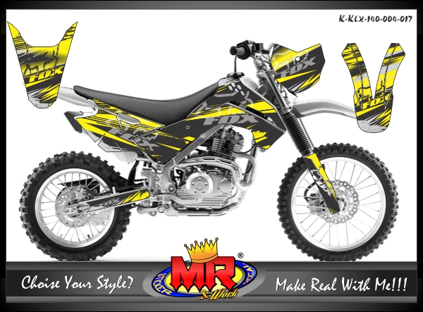 stiker-motor-klx-140-yellow-black-fox