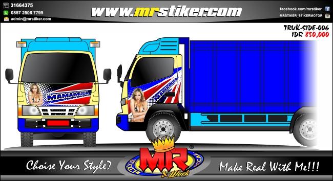 striping-stiker-truck-mama-muda