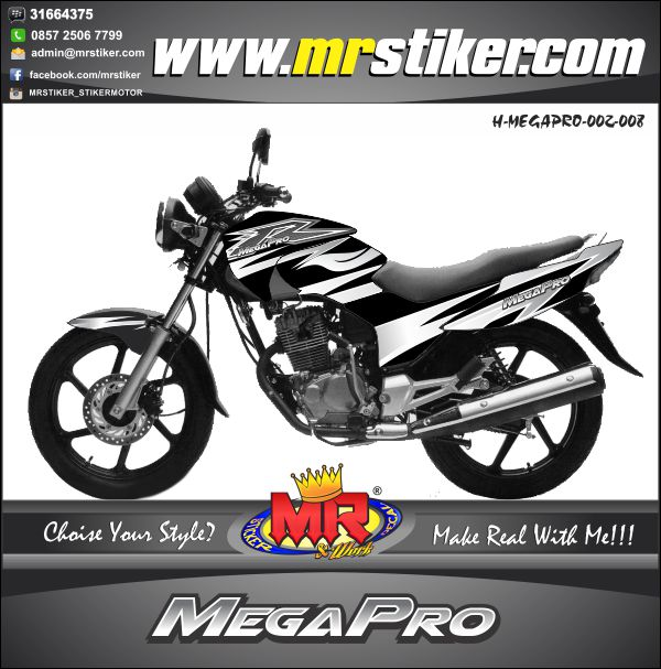 stiker-motor-megapro-silver