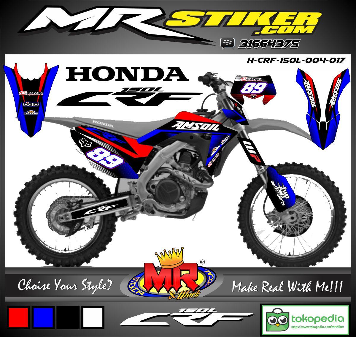 Katalog Stiker Motor Striping Suka Decal Mr All New Cbr 150r Racing Red Klaten Crf 150 L Simple Track
