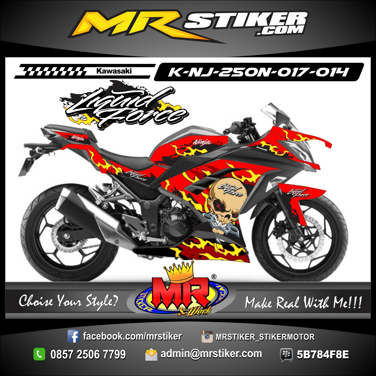 stiker-motor-ninja-250-fi-Skull-Grunge