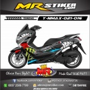 Stiker-Motor-Nmax-shark-monster-energy