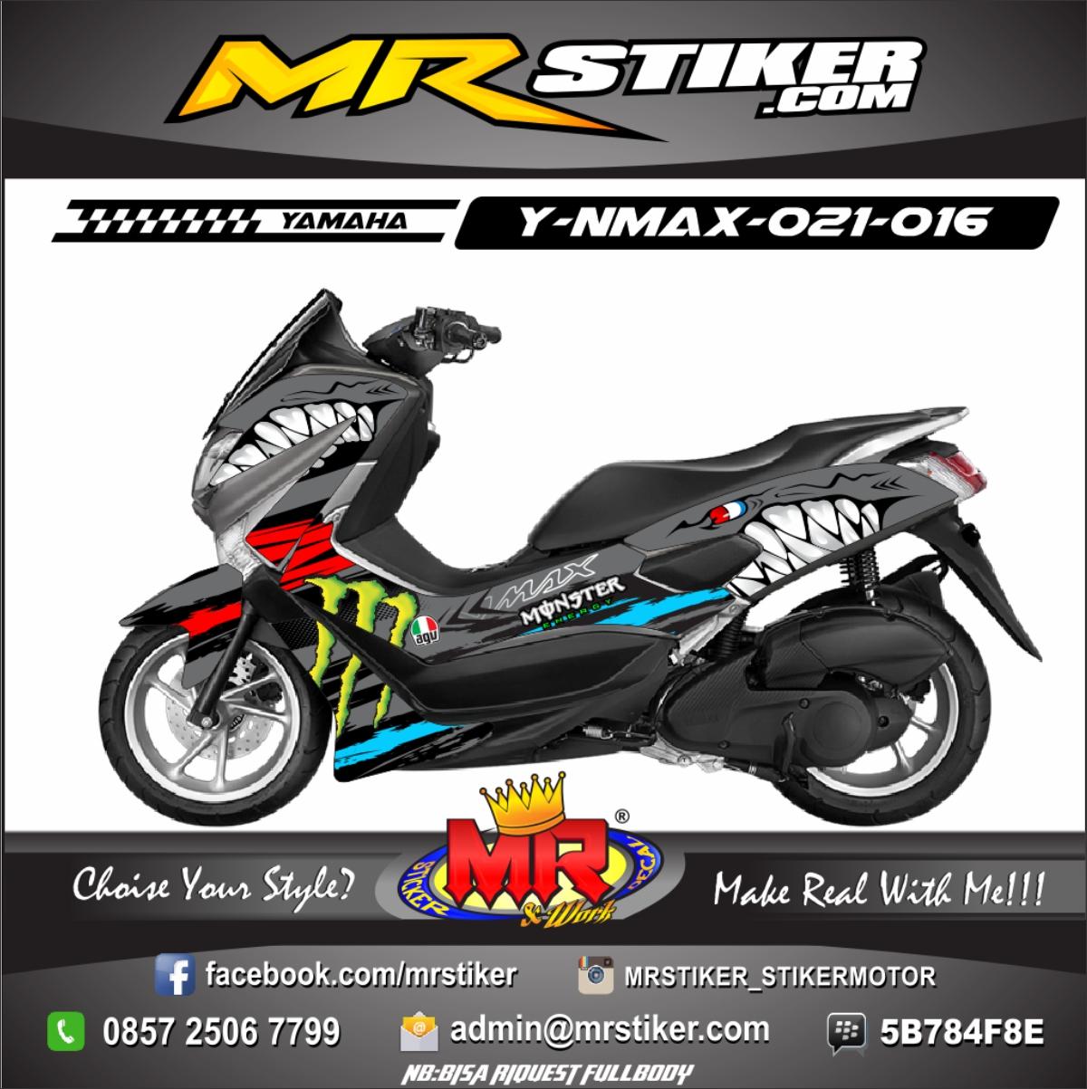 Stiker-Motor-Nmax-shark-monster-energy