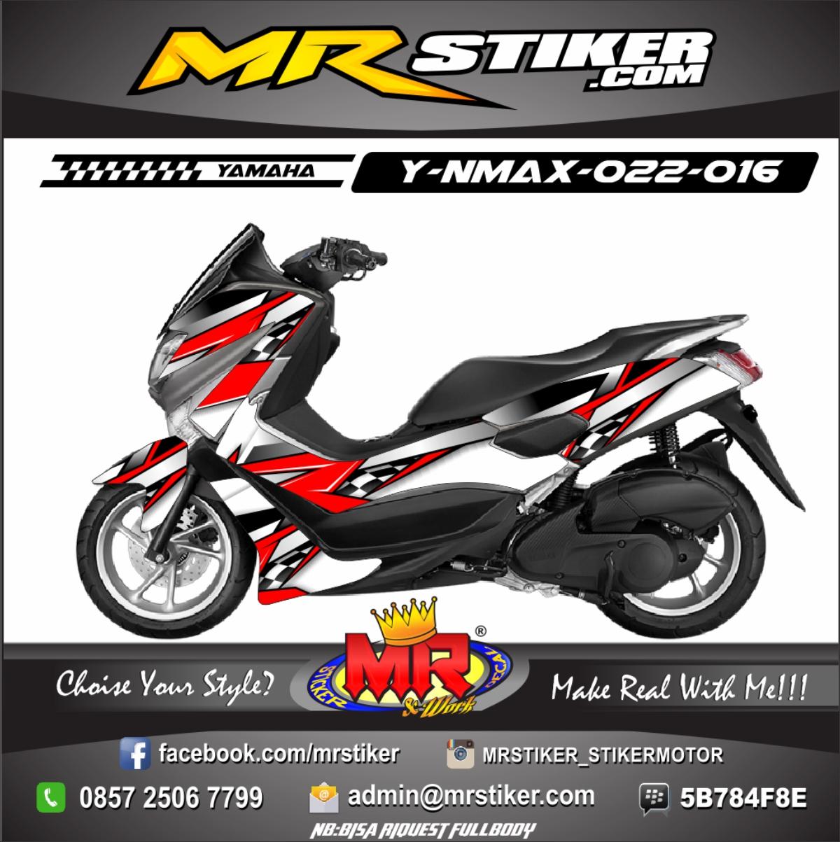 Stiker-Motor-Nmax-racing-hot-red