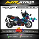 Stiker motor decal ADV 150 KenBlock Rainbow (FullBody)