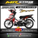 Stiker motor decal Honda Blade New Racing