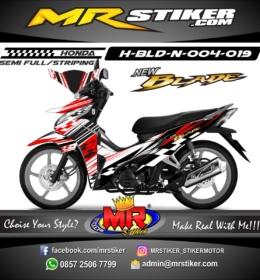 Stiker motor decal Honda Blade New Racing