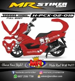Stiker motor decal Honda PCX 150 HelloKity (FullBody)