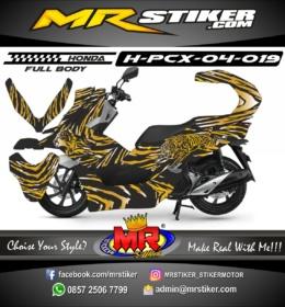 Stiker motor decal Honda PCX 150 Gold Tiger (FullBody)