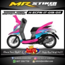 Stiker motor decal Scoopy New 2017 cool grafis