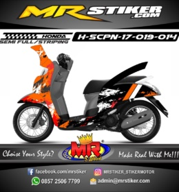 Stiker motor decal Scoopy New 2017 Abstrak