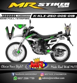 Stiker motor decal KLX 250 green gradation