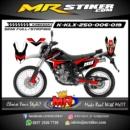 Stiker motor decal KLX 250 Red Graphic