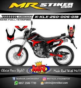 Stiker motor decal KLX 250 Red Graphic