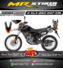 Stiker motor decal KLX 250 Gray supermoto